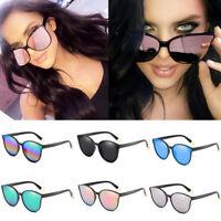 Hot Fashion Oversized Sunglasses Cat Eye Flat UV400 Eyewear Mirror Square Women