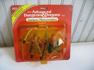 NIP 1982 TSR SARKEN MERCENARIES Advanced Dungeons & Dragons PVC figure set LJN