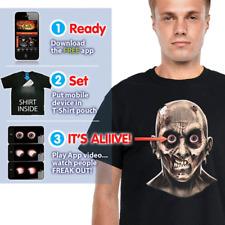 Digital Dudz Frantic Zombie Eyeballs T-Shirt X Large size Black
