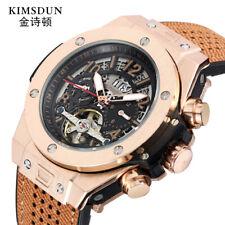 47MM Tourbillon automatic mechanical luminous business silicon tape men's Watch