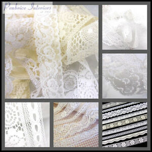 Antique Lace Vintage Trimming White Ribbon Trim Wedding Bridal Sewing fabric sew