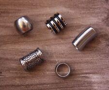 5 Stainless Steel 6/7mm Hole (1/4 Inch) Dreadlock Beads Dread Viking Beard B