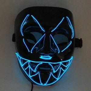 Laccio LED con azionatore a pile stilo per maschere halloween in 10 colori