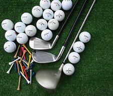 3 neue Golfschläger + 20 Golfbälle AAAA -AAA  + 50 Tees , Golfset