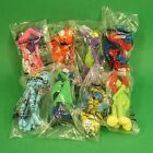 Full Set 8 McDonalds Happy Meal Toys 2001 Bendable Zoo Buddies Promotional Toy