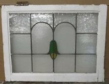 "MID SIZED OLD ENGLISH LEADED STAINED GLASS WINDOW Bell-Shaped Flower 26.5"" x 20"""