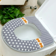 Newly Comfortable Toilet Seat Cover for Bathroom Cotton Pedestal Pan Cushion Pad