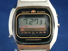 Vintage Orient Early Digital LCD Chronograph Watch 1976 NOS New Old Stock