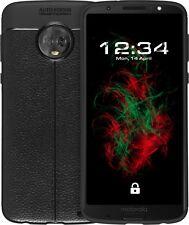 Custodia Similpelle Per Lenovo Moto G6 Plus Nero Protettiva Copertura Cellulare