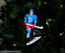 wayne GRETZKY new york RANGERS hockey NHL xmas TREE ornament HOLIDAY blue JERSEY