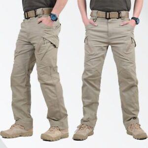 Men's Soldier Tactical Waterproof Pants Cargo Pants Combat Hiking Outdoor Pant
