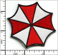 20 Pcs Embroidered Iron on patches Resident Evil Umbrella AP059bB