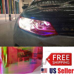 """12""""x84"""" Chameleon Neo RED Color Headlight Taillamp Fog Light Vinyl Tint Film DIY"""