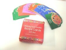 Holiday Kids Cookie Recipe Cards With holder 70 Recipes and holder