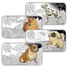 Tuvalu - 4 x 1 Dollar 2018 - Jahr des Hundes - Barrenform - 4 x 1 Oz Silber PP