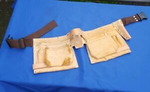 Suede Leather Nail Hand Tool Holder Carpenter/Roofer (2) Unbranded Pouches