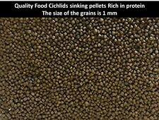 Food Cichlids sinking pellets 50g / 100g / 200g Protein rich food 47% protein