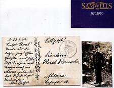 MS2970 1917 GERMANY MILITARY NAVY *Schiffspost* Postcard SMS Derfflinger Officer