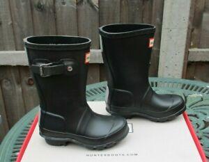 Hunter Wellies Toddler Size UK 7 Black Boys Or Girls BNIB Wellington Boots New