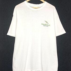 Vintage Jimmy Buffett Margaritaville Cozumel Mens T-Shirt White XL 2005 Thrashed