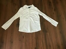 Girls Size Large 12/14 Long Sleeved White Shirt by Chaps (Uniform)