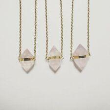 Rose Quartz Gemstone Statement Costume Necklaces & Pendants