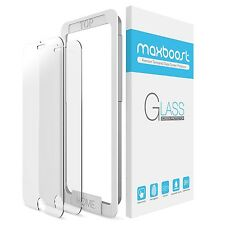 iPhone 7 Screen Protector Maxboost 2 Pack (Worry-Free Pack)Tempered Glass Scr...