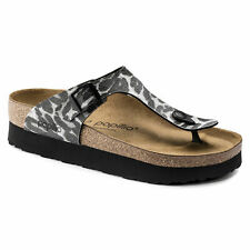 PAPILLIO Birkenstock Sandals GIZEH Leo black Leopard Platform Birkoflor regular