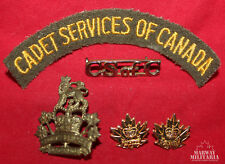 Cadet Service of Canada Badge & Cloth Insignia Lot (inv 15052)