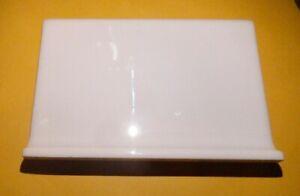 NEW 5 Gloss White Bullnose Top COVE BASE Tile AMERICAN OLEAN STARTING LINE 4 x 6
