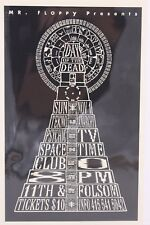 DAY OF THE DEAD MR FLOPPY, TEKNO ANARCHY, PSYCHIC TV POSTCARD FLYER