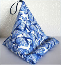Sale BUTTERFLY BLUE Resting pillow holder cushion beanbag for iPad Kindle Tablet