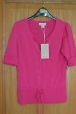 Ladies Cerise Pink Monsoon Short Sleeve Summer Fitted Cardigan BNWT SIze 8