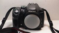 Pentax K K-500 16.3MP Digital SLR Camera - Black (Body Only)+BATTERY+CHARGER