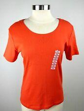 Karen Scott Petites Women's PS Orange Short Sleeve Casual Blouse Shirt