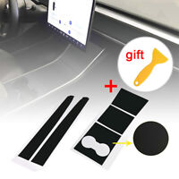 For Tesla Model 3 Vehicles&Car Center Console Dashboard Vinyl Wrap Stickers 2019