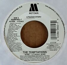 CROSSOVER 45 - TEMPTATIONS - STAY b/w MY GIRL - MOTOWN  - WHITE LABEL PROMO