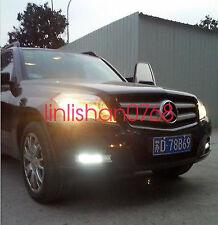 LED daytime running lights DRL with fog lamp cover for Mercedes-Benz GLK300 350