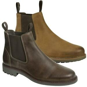 Hoggs Of Fife Banff Dealer Mens Boots Brown Leather Shoes Chelsea Boots