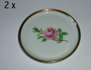 2 Stck. Pralinen- Konfektteller mit Rose - Fürstenberg Porzellan - aus Nachlass