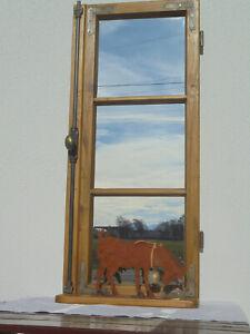 Spiegelfenster mit Ablage Spiegel Altes Sprossfenster Bauernmöbel Landhaus 15114