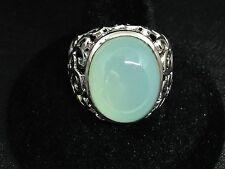 925 Sterling Silver Chalcedony Ring Size N Seller Ref 84