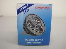 LOT OF (6) DABMAR LIGHTING 3 x 1 WATT  MR16 LED LAMPS, 2700K #: DL-MR16-LED/1-3