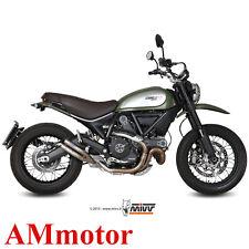 Mivv Ducati Scrambler 800 2015 15 Scarico Terminale Marmitta Double Gun Moto
