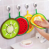 Novelty Fruit Print Kitchen Hand Towel Microfiber Towels Cleaning Rag Dish Cloth
