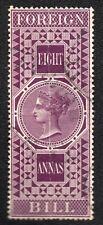 INDIA; Colonie ; FOREIGN BILL ;8 Annas ;1869-1900 / L140e
