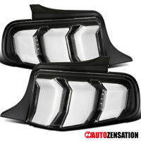 For 2010-2012 Ford Mustang Black Clear LED Sequential Signal Tail Lights Lamps