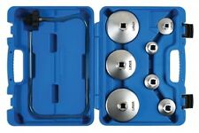 Laser Tools Set 8 Oil Filter Socket Wrench Oil Filter Housing Cups Plated Steel