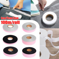100M Wonder Web Iron On Double-sided Adhesive Fabric Roll Sewing Turn Up Hems