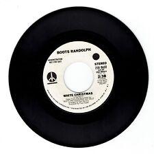 "1974 Boots Randolph ""White Christmas/Sleigh Ride "" 45rpm Stereo/Mono Promo Copy"